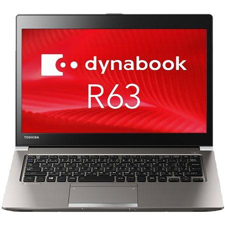東芝 PR63DGAA647AD1H [dynabook R63/D(i3-6006U 13.3 4GB 128GB_SSD W10P)]