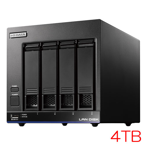 HDL4-X/TM HDL4-X4/TM3 [TM NAS Security 4ドライブNAS 4TB ライセンス3年]
