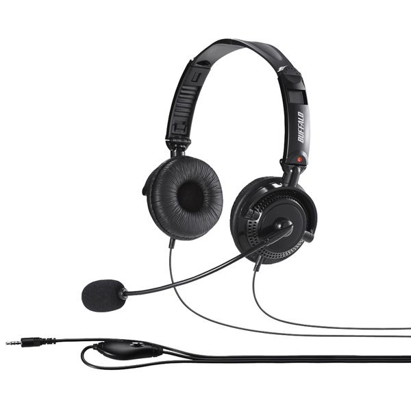 バッファロー(サプライ) BSHSHCS310BK [両耳ヘッドバンド式ヘッドセット 大型ドライバー/4極]