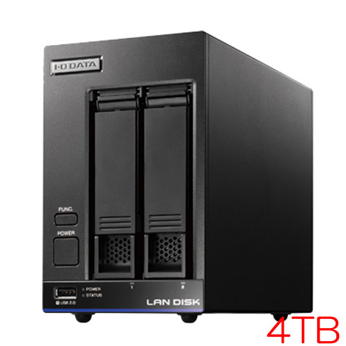 アイオーデータ HDL2-X HDL2-X4/ST5 [高性能CPU搭載 2ドライブNAS 有償5Y保守 4TB]