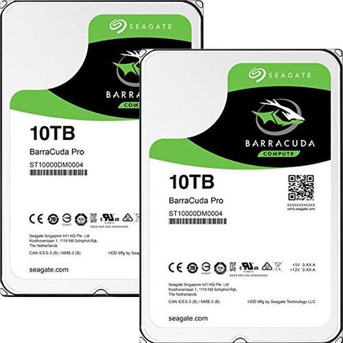 ★お得な2台セット★ST10000DM0004 [BarraCuda Pro(10TB HDD 3.5インチ SATA 6G 7200rpm 256MB)]