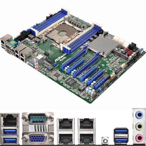ASRock Rack EPC621D8A [マザーボード Intel C621/LGA3647/DDR4(8 DIMM)/4xGLAN/ASPEED AST2500/ATX]