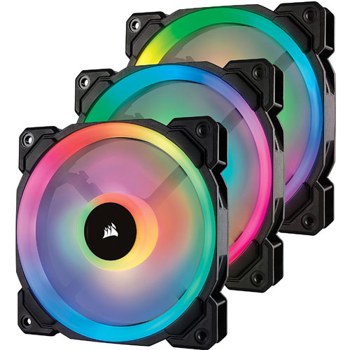 CORSAIR [140mm // 1300RPM] 【送料無料】 LL140 RGB 2Fan Pack with Lighting Node PRO CO-9050074-WW RGB LED (コルセア) ケースファン