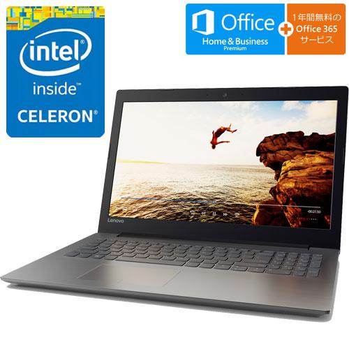 80XR019WJP [IdeaPad 320(Cel-N3350、4G、500GB、15.6FHD、オフィス、ブラック)]