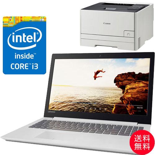 ★お得なレーザープリンターセット★80XH006EJP [IdeaPad 320(i3-6006U 4G SSD128GB 15.6FHD(White))]