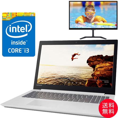 ★お得な液晶ディスプレイセット★80XH006EJP [IdeaPad 320(i3-6006U 4G SSD128GB 15.6FHD(White))]
