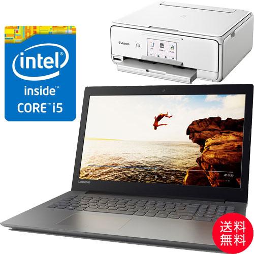 ★お得なキヤノンプリンターセット★80XL00C6JP [IdeaPad 320(i5-7200U 128SSD 4G win10 15.6FHD(Black))]