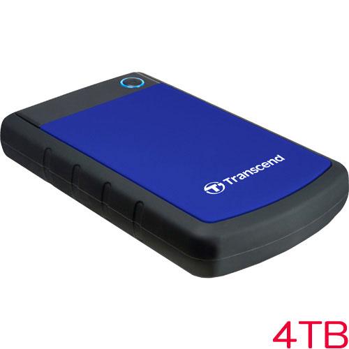 トランセンド TS4TSJ25H3B [耐衝撃ポータブルHDD StoreJet 25H3 USB 3.0 4TB ブルー]