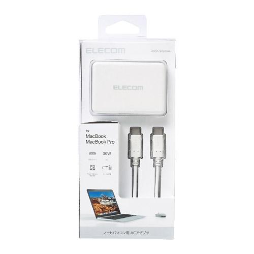 エレコム ACDC-CPS200WH [ノートPC用ACアダプター/USB Type-C/PD対応/ホワイト]