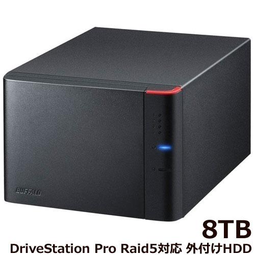 バッファロー DriveStation Pro HD-QHA8U3/R5 [RAID5対応 USB3.1 外付HDD 4ドライブ 8TB]