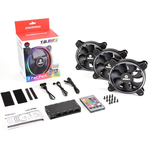 UCTBRGB12-BP3 [120mmケースファン T.B.RGB 3 fan packege (ファン3個、RGBコントロールボックス)]