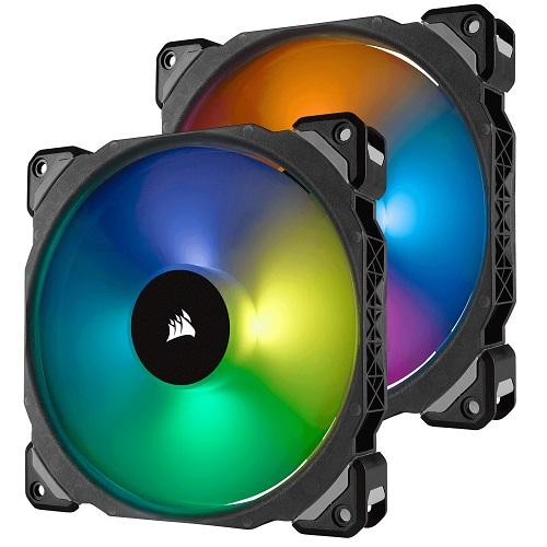 コルセア CO-9050078-WW [ML140 Pro RGB LED 140MM PWM プレミアム磁気浮上ファン 2個パック Lighting Node PRO付]