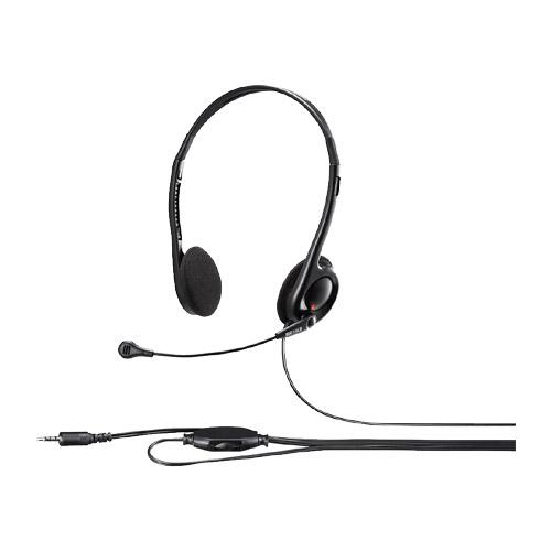 バッファロー(サプライ) BSHSHCS100BK [両耳ヘッドバンド式ヘッドセット 4極ミニ接続 ブラック]