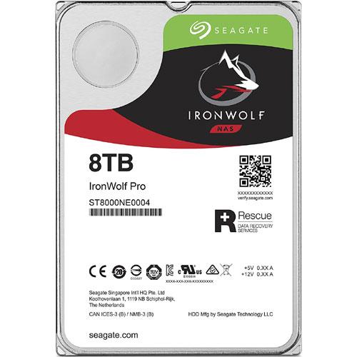 シーゲート ST8000NE0004 [NAS向けHDD IronWolf Pro(8TB 3.5インチ SATA 6G 7200rpm 256MB)]
