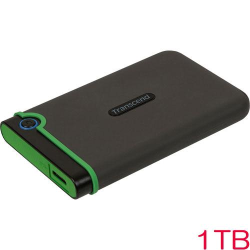 トランセンド TS1TSJ25M3S [1TB ポータブルHDD StoreJet 25M3 USB3.0対応 アイロングレー]