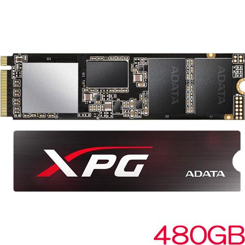 ADATA ASX8200NP-480GT-C [480GB SSD XPG SX8200 M.2 2280 TLC(3D NAND) NVMe PCIe Gen3x4 5年保証]