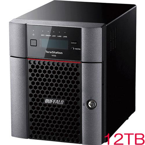 バッファロー TeraStation WSS WS5420DN12W6 [WSS2016 WE 4ドライブNAS 12TB]