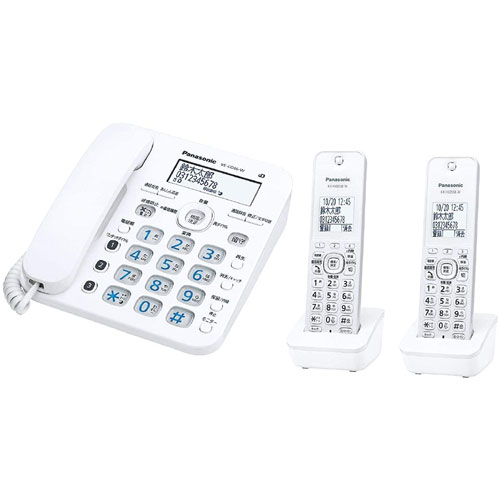 パナソニック RU・RU・RU(ル・ル・ル) VE-GD36DW-W [コードレス電話機(子機2台付)(ホワイト)]