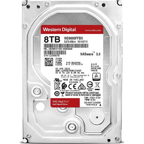 ウエスタンデジタル WD8003FFBX [WD Red Pro(8TB 3.5インチ SATA 6G 7200rpm 256MB)]