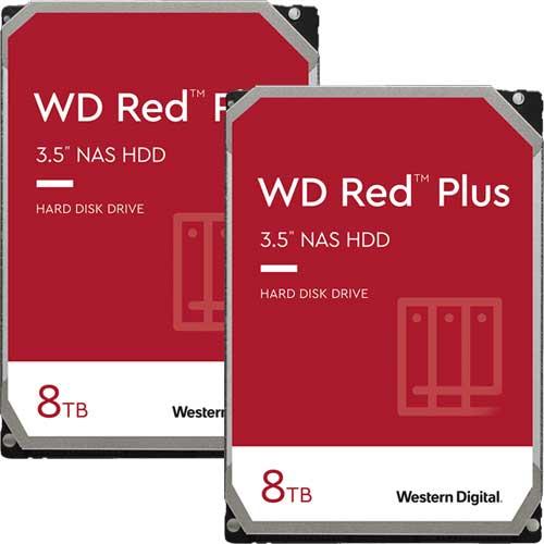 ウエスタンデジタル ★お得な2台セット★WD80EFAX [WD Red Plus(8TB 3.5インチ SATA 6G 5400rpm 256MB CMR)]