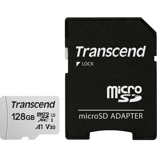 トランセンド TS128GUSD300S-A [128GB microSDXC 300S Class 10、UHS-I U3、V30、A1 対応 SDカードアダプタ付属]
