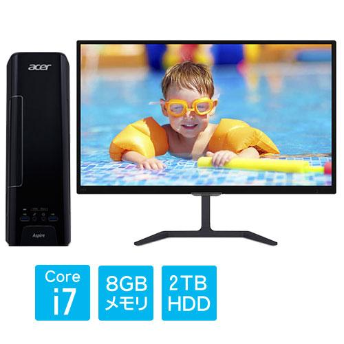 ★お得な23.6型液晶モニターセット★Aspire XC-780 [XC-780-F78G(i7-7700 8GB 2TB DSM W10H64)]