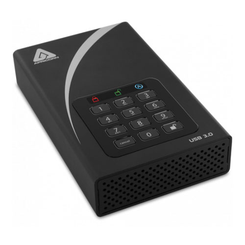 Apricorn ADT-3PL256-6000(R2) [Aegis Padlock DT USB3.0 AES-XTS 256bit 暗号化対応 外付けHDD 6TB]