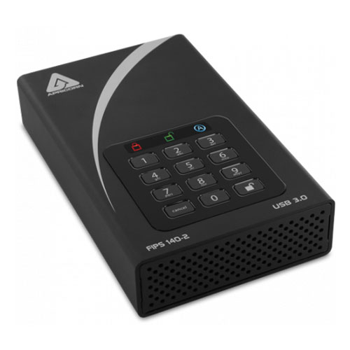 Apricorn ADT-3PL256F-4000(R2) [外付けHDD 4TB Aegis Padlock DT USB3.0 AES-XTS 暗号化(FIPS 140-2 Level2)]