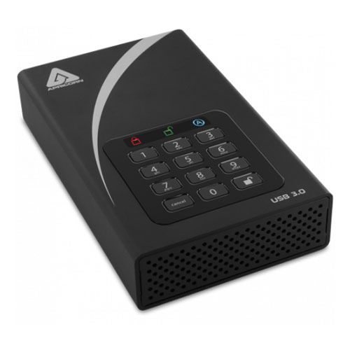 Apricorn ADT-3PL256-2000 (R2) [Aegis Padlock DT USB3.0 AES-XTS 256bit 暗号化対応 3.5インチ外付けHDD 2TB]