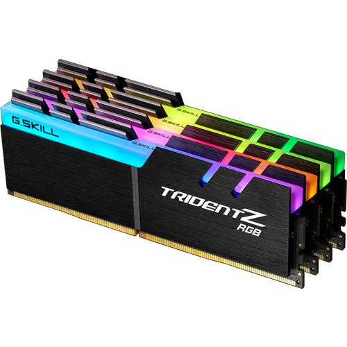 G.SKILL F4-3200C16Q-32GTZR [Trident Z RGB 32GB (8GBx4) DDR4 3200Mhz (PC4-25600) 1.35V XMP 2.0]