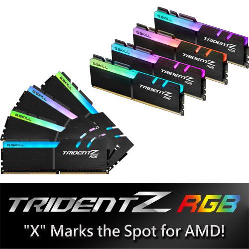 G.SKILL F4-2400C15Q2-64GTZRX [Trident Z RGB (For AMD) 64GB (8GBx8) DDR4 2400Mhz (PC4-19200) 1.20V XMP 2.0]