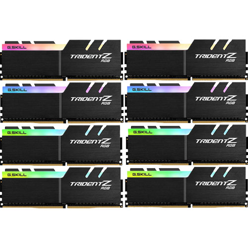 G.SKILL F4-2400C15Q2-64GTZR [Trident Z RGB 64GB (8GBx8) DDR4 2400Mhz (PC4-19200) 1.20V XMP 2.0]