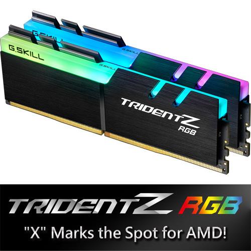 G.SKILL F4-2400C15D-32GTZRX [Trident Z RGB (For AMD) 32GB (16GBx2) DDR4 2400Mhz (PC4-19200) 1.20V XMP 2.0]