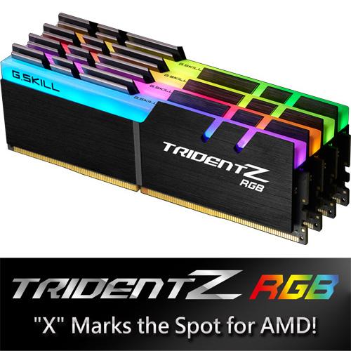 G.SKILL F4-2400C15Q-32GTZRX [Trident Z RGB (For AMD) 32GB (8GBx4) DDR4 2400Mhz (PC4-19200) 1.20V XMP 2.0]