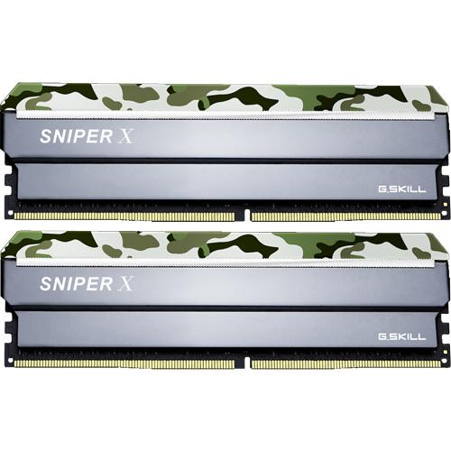 G.SKILL F4-2400C17D-32GSXF [Sniper X 32GB (16GBx2) DDR4 2400Mhz (PC4-19200) CL17 1.20V Classic Camo]