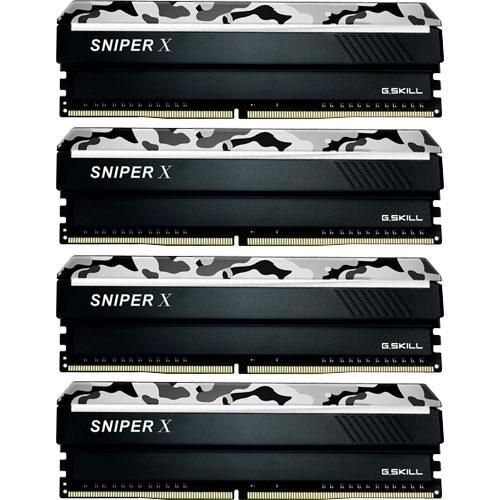 G.SKILL F4-2400C17Q-64GSXW [Sniper X 64GB (16GBx4) DDR4 2400Mhz (PC4-19200) CL17 1.20V Urban Camo]