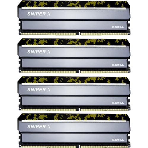 G.SKILL F4-2400C17Q-32GSXK [Sniper X 32GB (8GBx4) DDR4 2400Mhz (PC4-19200) CL17 1.20V Digital Camo]