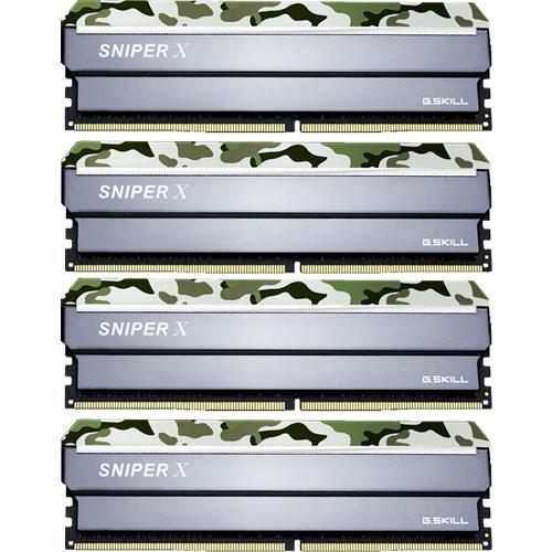 G.SKILL F4-2400C17Q-32GSXF [Sniper X 32GB (8GBx4) DDR4 2400Mhz (PC4-19200) CL17 1.20V Classic Camo]
