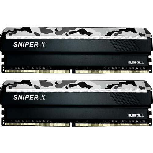 G.SKILL F4-2400C17D-32GSXW [Sniper X 32GB (16GBx2) DDR4 2400Mhz (PC4-19200) CL17 1.20V Urban Camo]