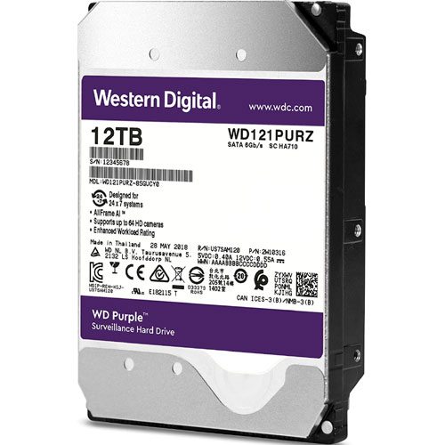 WD121PURZ [WD Purple(12TB 3.5インチ SATA 6G 7200rpm 256MB)]