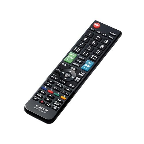 エレコム ERC-TV01BK-MI [かんたんTVリモコン/三菱・リアル用/ブラック]