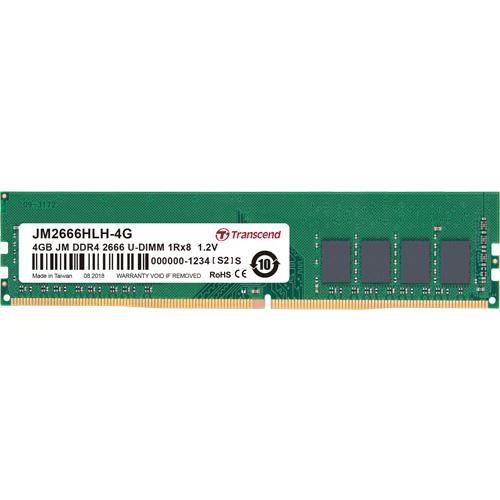 トランセンド JM2666HLH-4G [4GB JetRam DDR4 2666 U-DIMM 1Rx8 (512Mx8) CL19 1.2V]