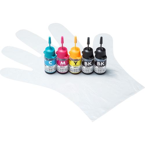 サンワサプライ INK-CM5S10 [キヤノン用詰め替えインク(5色セット)]