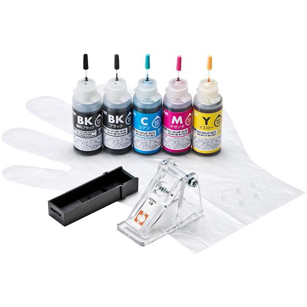サンワサプライ INK-C380S30S5 [詰め替えインク BCI-380/XKI-N10PGBK/N11用]