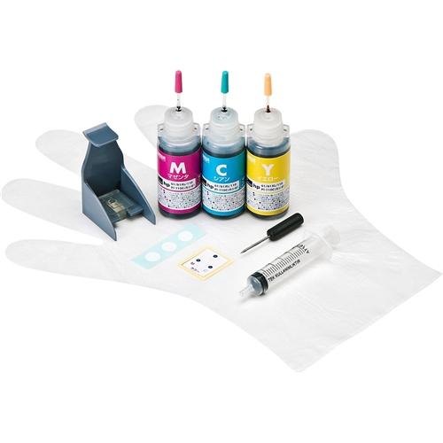 サンワサプライ INK-H61S30S [詰め替えインク(hp61シリーズ用・各30ml・3色セット)]