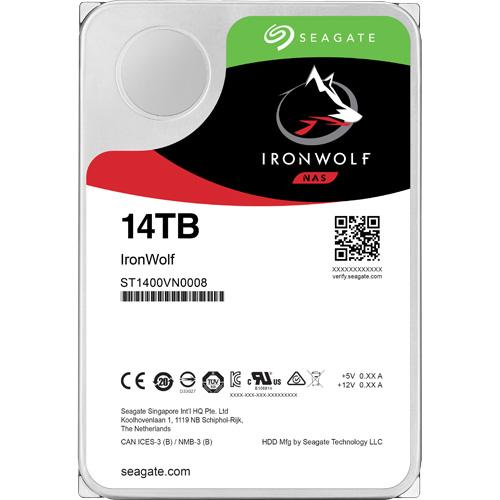 ST14000VN0008 [NAS向けHDD IronWolf(14TB 3.5インチ SATA 6G 7200rpm 256MB)]