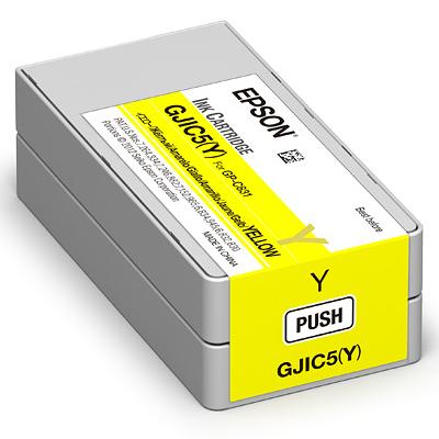 エプソン GJIC5Y [ラベルプリンター用 インクカートリッジ(イエロー)]