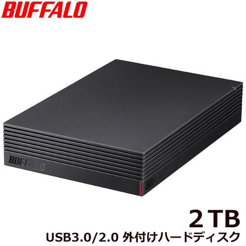 バッファロー HD-NRLD2.0U3-BA [USB3.1/USB3.0/USB2.0 外付けHDD PC用&TV録画用 静音&防振&放熱設計 日本製 2TB]