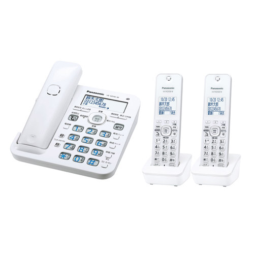 パナソニック RU・RU・RU(ル・ル・ル) VE-GD56DW-W [コードレス電話機(子機2台)(ホワイト)]