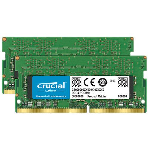 クルーシャル CT2K4G4SFS6266 [8GB Kit (4GBx2) DDR4 2666 MT/s (PC4-21300) CL19 SR x16 SODIMM 260pin]